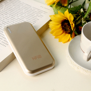 高蜚 超薄11200毫安双口 超薄移动电源 适用iphone5s三星s5/s4小米大容量充电宝通 土豪金