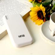 高蜚 超薄11200毫安双口 超薄移动电源 适用iphone5s三星s5/s4小米大容量充电宝通 白色