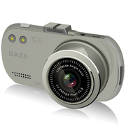 DAZA G322 大智行车记录仪 1080P高清 自动循环录影 1200万像素170度广角 银色-送卡+24小时停车监控