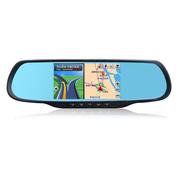 e道航 X5蓝牙电容屏凯立德 5寸汽车车载GPS导航仪测速高清广角行车记录仪 倒车后视一体 双镜头+16G(送监控线)