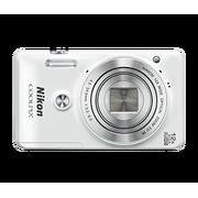 尼康 COOLPIX S6900 卡片式数码相机(1600万像素/翻转触摸屏/12倍光变/NFC)白色