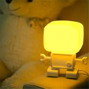 酷博 智能机器人光声控小夜灯 自动感光 造型超萌可爱 黄/白光 送礼佳品 黄色