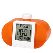 爱玛科 XD-777 智能水发电闹钟 水能电子钟表时钟 创意环保礼品 橙桔色