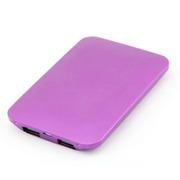 风彩 双USB充电口移动电源充电宝 iphone6 plus安卓通用 轻薄便携 5000m 紫色