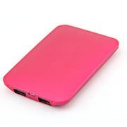 风彩 双USB充电口移动电源充电宝 iphone6 plus安卓通用 轻薄便携 5000m 玫红