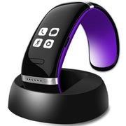 智蝶科技 OLED电容触摸屏蓝牙智能手环/智能手镯 无辐射手机伴侣 L12(紫色+黑色)
