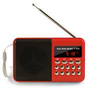 戴芙迪 便携式插卡迷你老人收音机 晨运外放MP3  FM调频收音Y-888 中国红