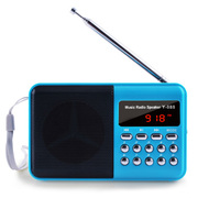 戴芙迪 便携式插卡迷你老人收音机 晨运外放MP3  FM调频收音Y-888 深湖蓝