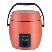 麦卓 Makejoy多功能电饭煲MJ-6612A分离式内胆1.2升单身贵族学生用带提手蒸盒 MJ-6612A圆形桔红色