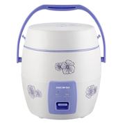麦卓 Makejoy多功能电饭煲MJ-6612A分离式内胆1.2升单身贵族学生用带提手蒸盒 MJ-6612A圆形紫色印花