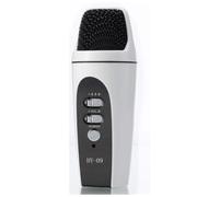 喜木 HY-09手机唱吧麦克风 电脑K歌YY抢麦专用电容麦克风 扩音录音设备 随身话筒 麦克风白色