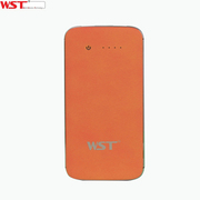 WST /A28 8000mAh聚合物充电宝自带线安全移动电源通用型 橙色