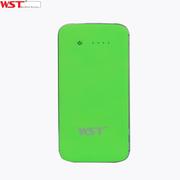 WST /A28 8000mAh聚合物充电宝自带线安全移动电源通用型 绿色