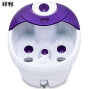 祥利 足浴盆CH-7111气泡按摩恒温加热洗脚盆振动按摩足浴盆 紫色
