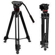 曼富图 MVK502AM-1  502HD中置双管摄像三脚架套装