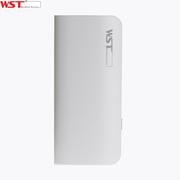 WST /A48 10000mAh品牌充电宝手机移动电源通用型 白底绿边