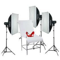 神牛 250W 摄影灯摄影棚摄影器材影室闪光灯三灯套装 柔光箱拍摄台人像商品拍摄影像设备产品图片主图