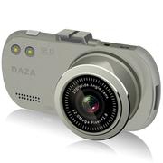 DAZA G322 大智行车记录仪 1080P高清 自动循环录影 1200万像素170度广 银色-16G卡24小时停车监控