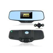 聚影 JVF12X 防眩目蓝镜行车记录仪 1080P 高清双镜头 倒车可视