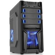 先马 破坏神7 游戏机箱(USB3.0,兼容SSD,Intel TAC2.0,支持长显卡,黑化背线,全铁网防尘)
