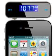 喜木 苹果iPhone6/5S 三星NOTE4 华为通用手机FM音乐调频发射器 FM发射器