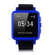 现代演绎 W560金属全智能手表手机 安卓4.4插手机卡 防水腕表运动计步 蓝色