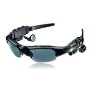 现代演绎 蓝牙眼镜 立体声听歌打电话司机必备 太阳镜墨镜 偏光眼镜一年换新黑色