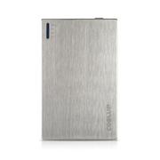 酷胜(COOLUP) 超薄安全移动电源 2000毫安 超小迷你卡片移动电源 拉丝银