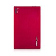 酷胜(COOLUP) 超薄安全移动电源 2000毫安 超小迷你卡片移动电源 烈焰红