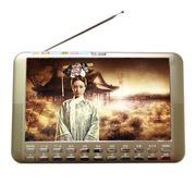 小霸王 视频扩音器S12 9寸高清视频扩音器唱看戏机音响 内置锂电FM收音机铝合金外壳双喇叭 金色 加16G戏曲广场舞卡