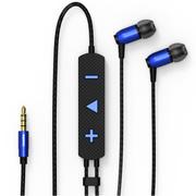 REMAX RM-720i动圈手机耳机/降噪音乐耳机 适用于苹果手机/iPad 蓝色