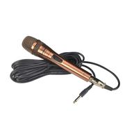 现代 专业麦克风 电脑网络K歌 会议金属8米线长动圈话筒套装 土豪金版GB-628
