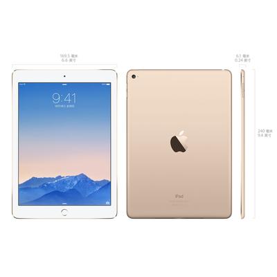 苹果 iPad Air2 MH0W2CH/A 9.7英寸平板电脑(A8X处理器/1G/16G/2048×1536/iOS 8.1/金色)产品图片5