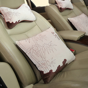 石家垫 汽车抱枕头枕 进口中空棉刺绣腰枕 中国风 四件套汽车用品 西江月