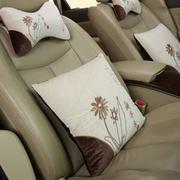 石家垫 汽车抱枕头枕 进口中空棉刺绣腰枕 中国风 四件套汽车用品 兰亭序
