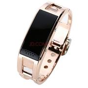爱探客 爱探客 智能手环手镯钛合金蓝牙智能手表 适用于三星/苹果/小米/htc/华为 D8 爱探客D8金色