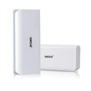 Viken 移动电源手机充电宝器 容量超5000毫安达到5200毫安 适用于苹果三星华为小米等 白灰色