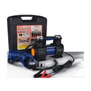 嘉西德 车载充气泵 智能打气泵12v 便携式金属充气泵 便携式汽车轮胎电动泵 出行必备品 0398双缸300W