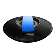 爱探客 无线蓝牙音响 免提通话 FM收音机立体声 U盘TF卡音乐播放 适用于手机/平板电脑 飞碟音箱-蓝色