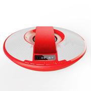 爱探客 无线蓝牙音响 免提通话 FM收音机立体声 U盘TF卡音乐播放 适用于手机/平板电脑 飞碟音箱-红色