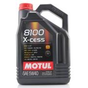 摩特(MOTUL) 8100XCESS 5W40 全合成机油5L  注:新老包装随机发