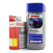 索纳克斯 特级纳米汽车蜡漆面(液体巴西棕榈蜡) 新车1号水晶纯蜡套装500ML