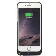 现代演绎 iPhone6/plus 背夹电池 苹果6 移动电源 备用电 充电宝手机壳 黑色 D6A 4.7英寸