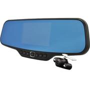 泰鹿 H6后视镜行车记录仪高清广角夜视 单/双镜头可选 前后监控倒车可视4.3寸 双镜头系列 标配+16GC10高速卡