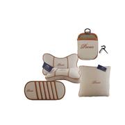 品尚车居 PS系列精品套装 抱枕 太空棉护颈枕 挡阳板CD袋 手机风口置物袋