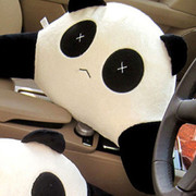 戴福瑞(De Ferry) 汽车腰靠背垫熊猫腰靠垫靠垫记忆棉 黑白色2