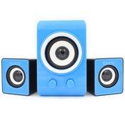 亿豆 ED-211 笔记本及台式电脑2.1声道音箱 USB供电 低音炮 清新蓝