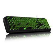 其他 魔蝶 M100 三色背光游戏键盘 机械手感 防水设计 人体工学键帽 激光刻字 可调节背光 草绿色
