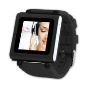 美创 智能手表运动MP3播放计步器录音机FM播放重力感应三星小米安卓通用 黑色