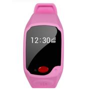 美创 儿童智能手表手环老人GPS定位手机个人追踪器苹果iPhone5s/6安卓通用 粉红色